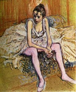 Henri De Toulouse Lautrec - Seated Dancer