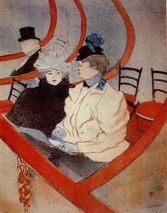 Henri De Toulouse Lautrec - The Large Theater Box