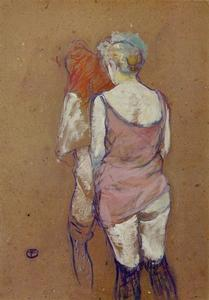 Henri De Toulouse Lautrec - Two Half-Naked Women Seen from Behind in the Rue des Moulins Brothel