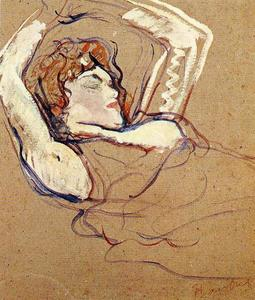 Henri De Toulouse Lautrec - Woman Lying on Her Back, Both Arms Raised