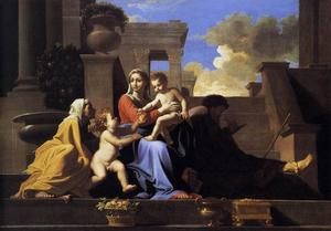 Nicolas Poussin - Holy Family on the Steps