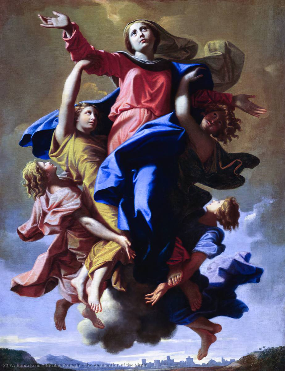 The Assumption of the Virgin, Oil On Canvas by Nicolas Poussin (1594-1665, France)