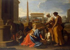 Nicolas Poussin - The Holy Family in Egypt