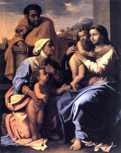 Nicolas Poussin - The Holy Family with St. Elizabeth and John the Baptist