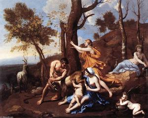 Nicolas Poussin - The Nurture of Jupiter