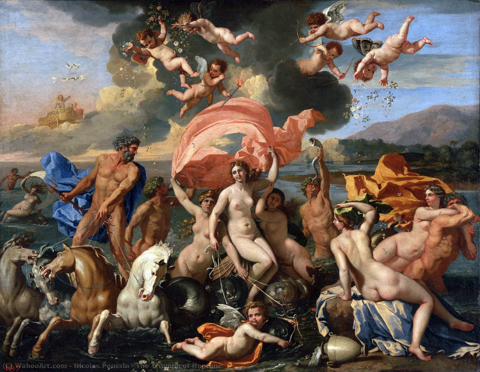 The Triumph of Neptune, Oil On Canvas by Nicolas Poussin (1594-1665, France)