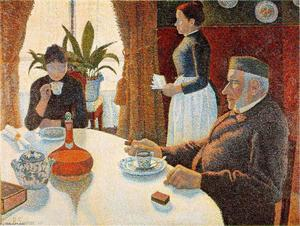 Paul Signac - Breakfast (The Dining Room)