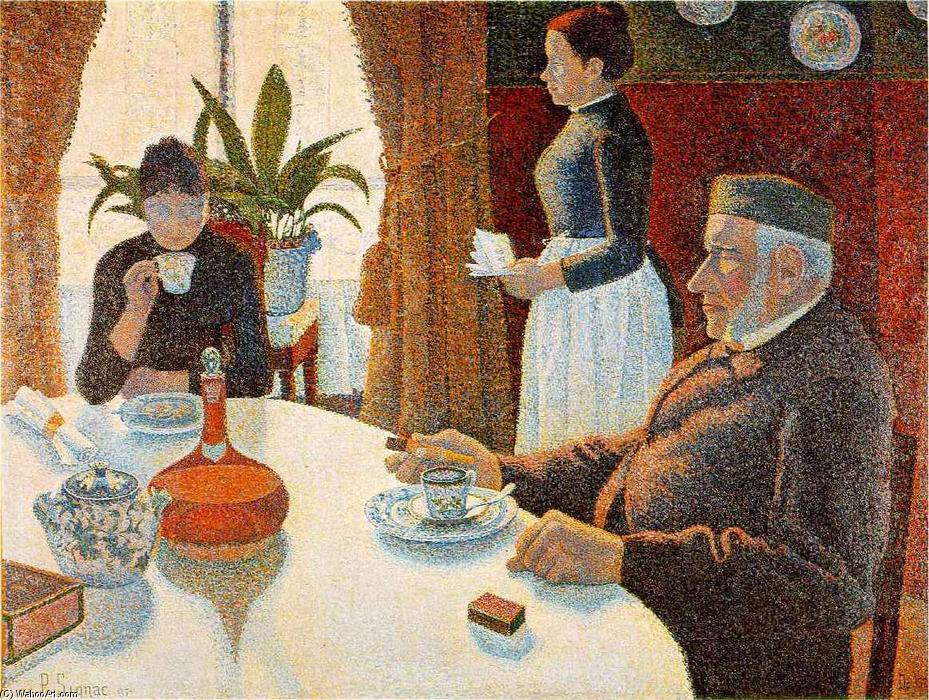 Breakfast (The Dining Room), Oil On Canvas by Paul Signac (1863-1935, France)