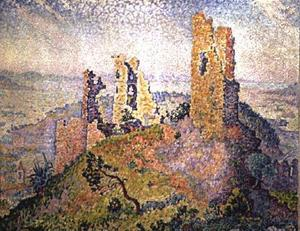 Paul Signac - Landscape with a ruined castle