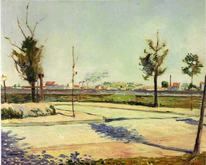 Order Reproductions | Road to Gennevilliers by Paul Signac (1863-1935, France) | WahooArt.com
