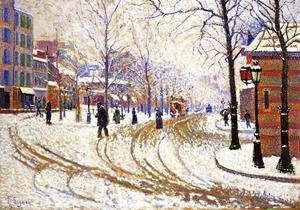Paul Signac - Snow, Boulevard de Clichy, Paris