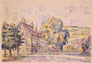Paul Signac - Street with a Frame House in Normandy