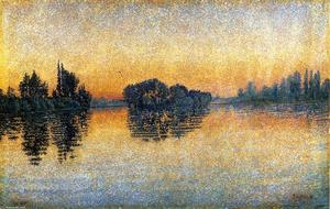 Paul Signac - Sunset, Herblay, Opus 206