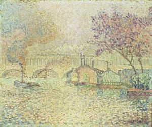 Paul Signac - The Viaduct at Auteuil
