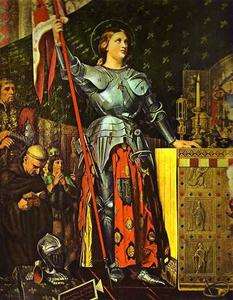 Jean Auguste Dominique Ingres - Joan of Arc on Corronation of Charles VII in the Cathedral of Reims