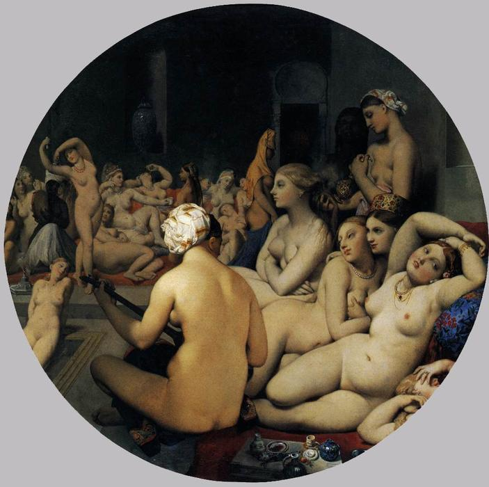 Order Oil Painting : The Turkish Bath, 1863 by Jean Auguste Dominique Ingres (1780-1867, France) | WahooArt.com
