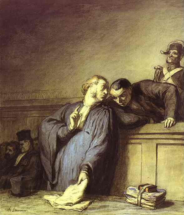 A Criminal Case by Honoré Daumier (1808-1879, France) | WahooArt.com