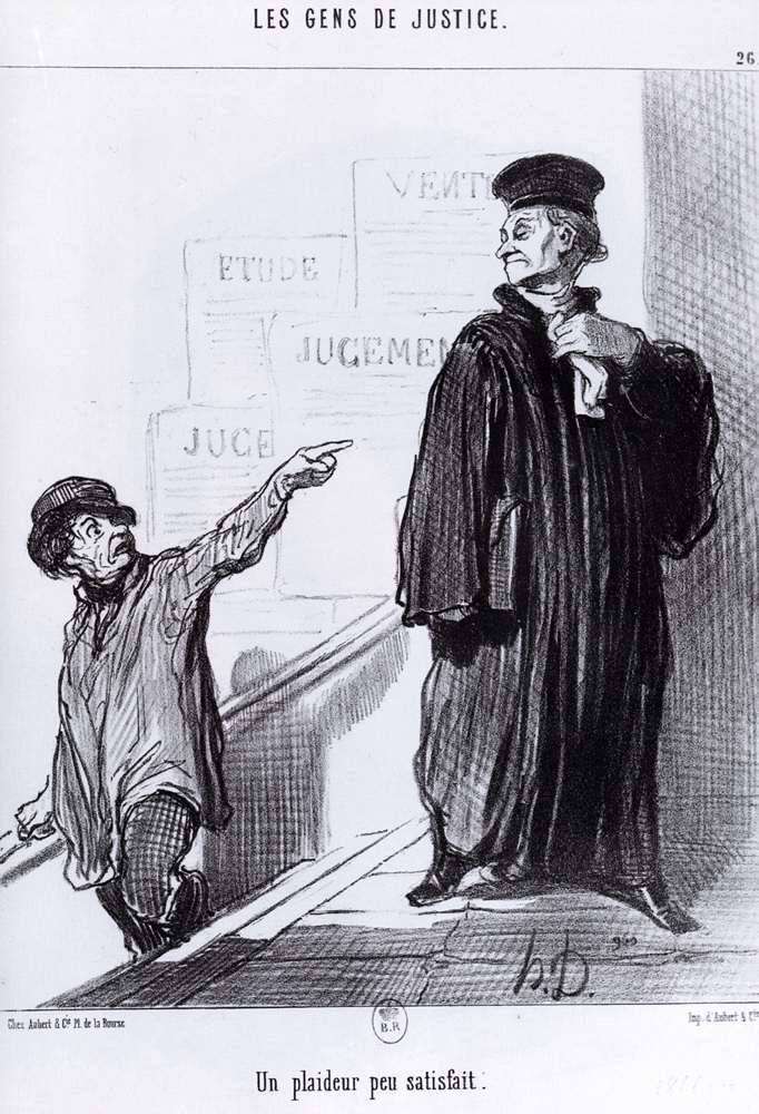 A Disgruntled Litigant by Honoré Daumier (1808-1879, France) | WahooArt.com