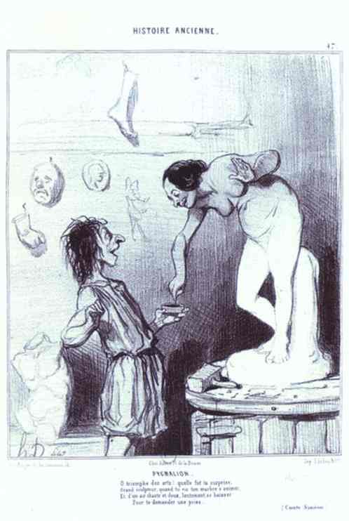 Ancient History Series - Pygmalion by Honoré Daumier (1808-1879, France) | Oil Painting | WahooArt.com