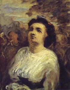 Honoré Daumier - Bust of a Woman