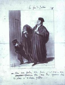 Honoré Daumier - It's true you have lost your case... but you should have gotten a lot of pleasure hearing me plead, your case. - From the Series Les Gens de justice