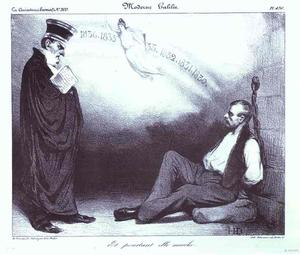 Honoré Daumier - Modern Galilee. And Nevertheless It Moves