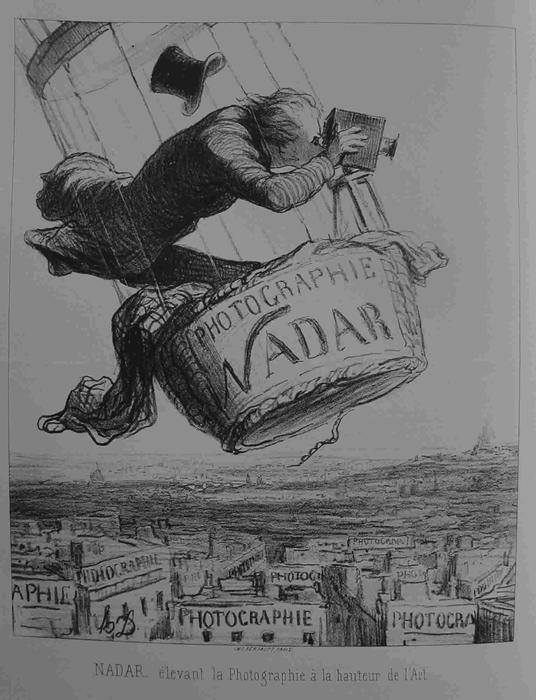 NADAR elevating Photography to Art by Honoré Daumier (1808-1879, France) | WahooArt.com