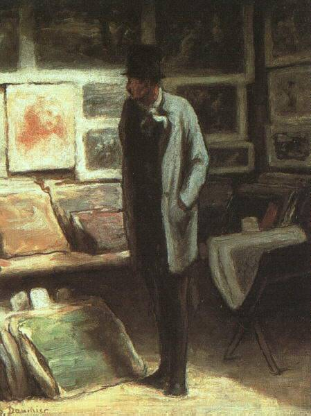 The Print Collector by Honoré Daumier (1808-1879, France) | WahooArt.com