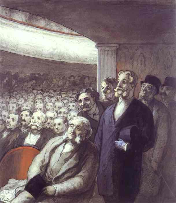 The Spectators by Honoré Daumier (1808-1879, France) | Museum Quality Reproductions | WahooArt.com