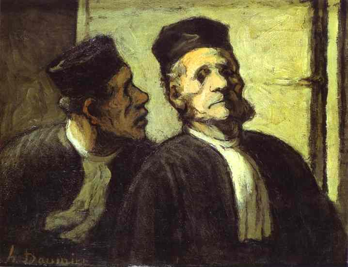 Two Lawyers by Honoré Daumier (1808-1879, France) | WahooArt.com