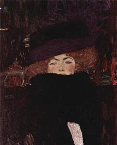 Gustav Klimt - Lady with Hat and Featherboa