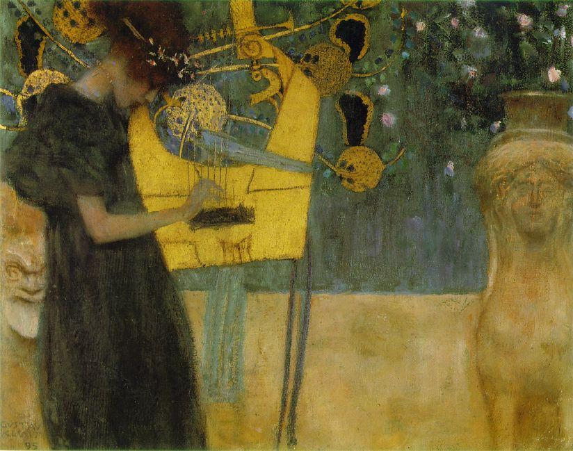 Music I, Oil by Gustav Klimt (1862-1918, Austria)