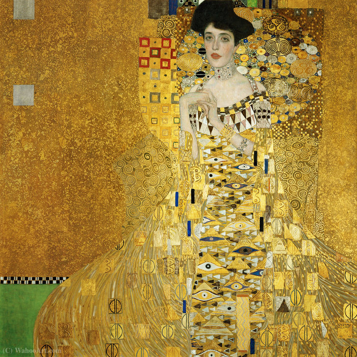 Order Museum Quality Reproductions : Portrait of Adele Bloch-Bauer I, 1907 by Gustav Klimt (1862-1918, Austria) | WahooArt.com