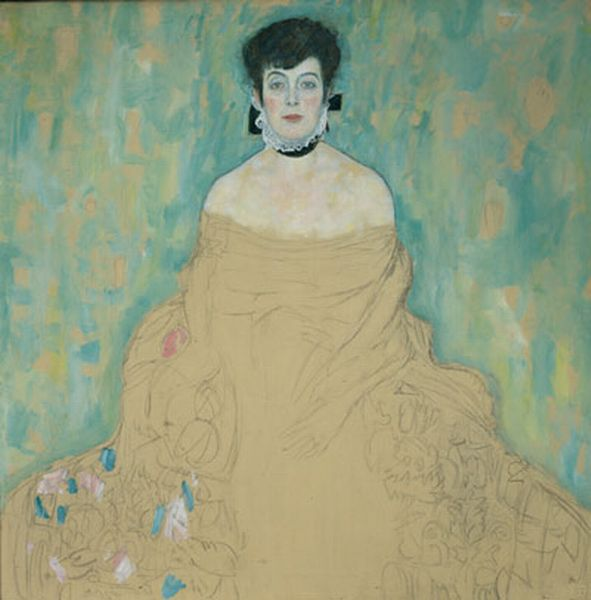 Portrait Of Amalie Zuckerkandl (unfinished) by Gustav Klimt (1862-1918, Austria) | Museum Quality Copies Gustav Klimt | WahooArt.com