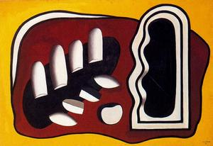Fernand Leger - Composition on a yellow background