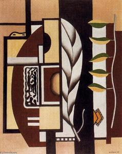 Fernand Leger - Still life with green leaves