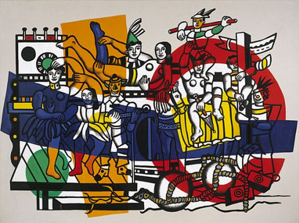 The Great Parade, Oil by Fernand Leger (1881-1955, France)