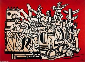 Fernand Leger - The great stop on a red background