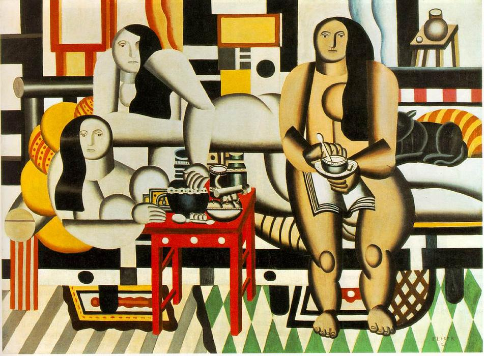 Three Women, 1921 by Fernand Leger (1881-1955, France) | Famous Paintings Reproductions | WahooArt.com