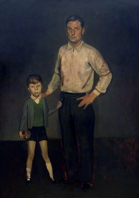 Roger and his son by Balthus (Balthasar Klossowski) (1908-2001, France) | Museum Quality Reproductions | WahooArt.com
