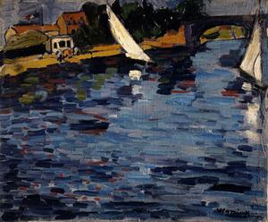 Maurice De Vlaminck - On the Banks of the Seine