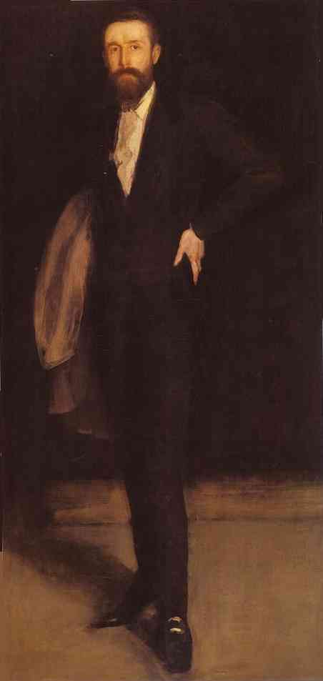 Arrangement in Black, Portrait of F. R. Leyland, Oil by James Abbott Mcneill Whistler (1834-1903, United States)