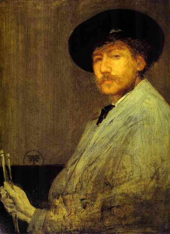 Arrangement in Gray, Portrait of the Painter, Oil by James Abbott Mcneill Whistler (1834-1903, United States)