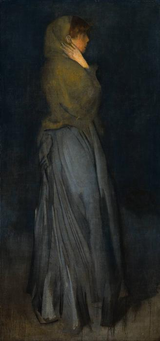 Arrangement in Yellow and Grey, Effie Deans, Oil by James Abbott Mcneill Whistler (1834-1903, United States)