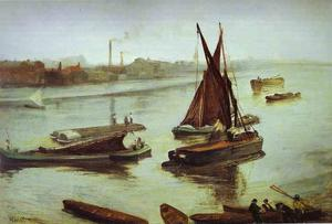 James Abbott Mcneill Whistler - Grey and Silver, Old Battersea Beach