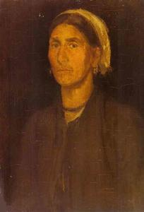 James Abbott Mcneill Whistler - Head of a Peasant Woman