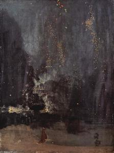James Abbott Mcneill Whistler - Nocturne in Black and Gold, The Falling Rocket