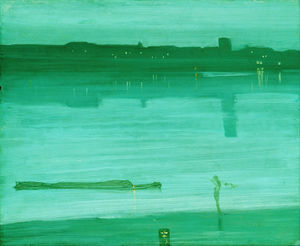 James Abbott Mcneill Whistler - Nocturne in Blue and Green, Chelsea