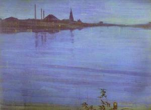 James Abbott Mcneill Whistler - Nocturne in Blue and Silver