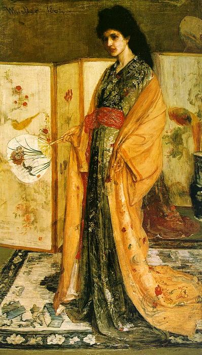 Rose and Silver. The Princess from the Land of Porcelain, Oil by James Abbott Mcneill Whistler (1834-1903, United States)